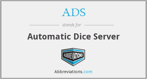 ADS - Automatic Dice Server