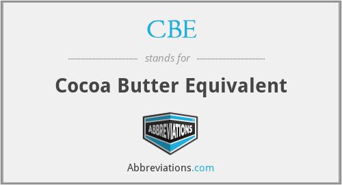 CBE - Cocoa Butter Equivalent