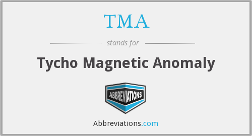 TMA - Tycho Magnetic Anomaly