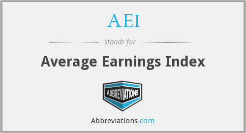 AEI - Average Earnings Index
