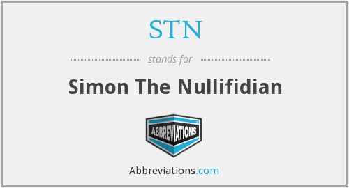 STN - Simon The Nullifidian