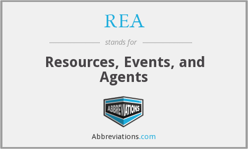 REA - Resources, Events, and Agents