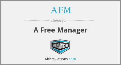 AFM - A Free Manager