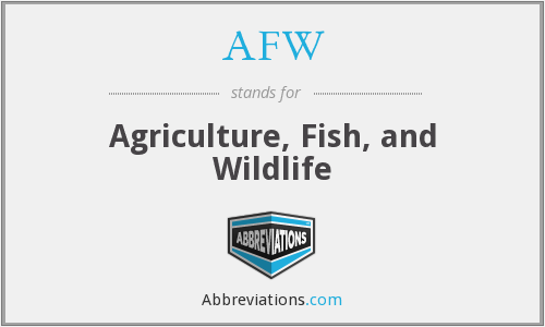 AFW - Agriculture Fish And Water