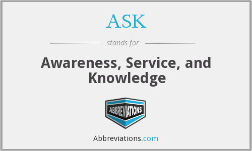 ASK - Awareness Service And Knowledge