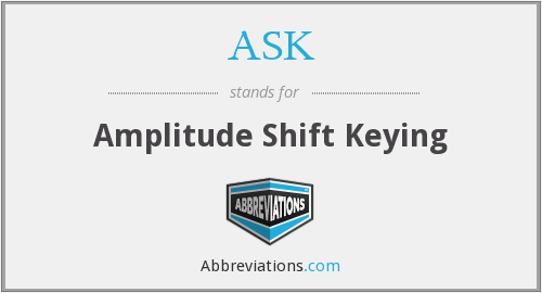 ASK - Amplitude Shift Keying