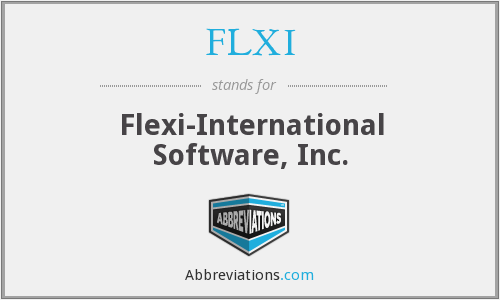 FLXI - Flexi-International Software, Inc.