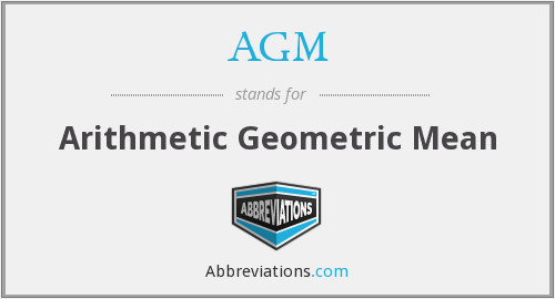 AGM - Arithmetic Geometric Mean
