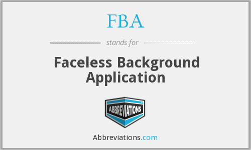What does FBA stand for?
