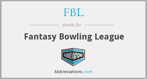 FBL - Fantasy Bowling League