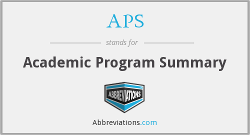 APS - Academic Program Summary