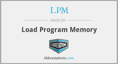 LPM - Load Program Memory