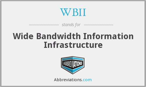 WBII - Wide Bandwidth Information Infrastructure