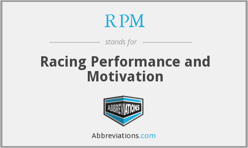 RPM - Racing Performance and Motivation