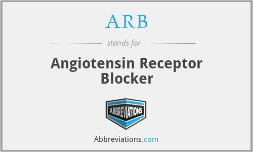ARB - Angiotensin Receptor Blocker
