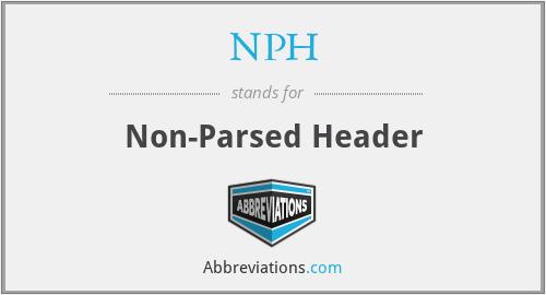 NPH - Non-Parsed Header