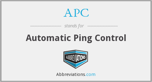 APC - Automatic Ping Control
