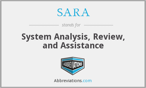SARA - System Analysis Review And Assistance