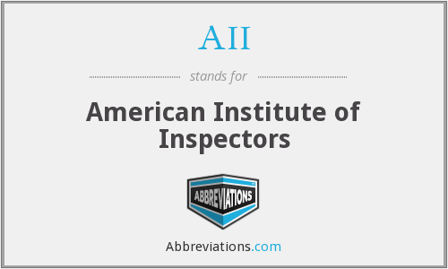 AII - American Institute of Inspectors