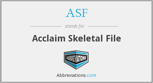 ASF - Acclaim Skeletal File