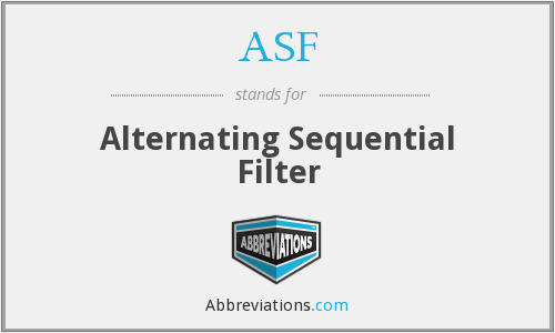 ASF - Alternating Sequential Filter