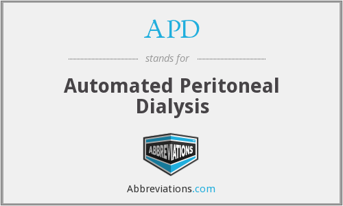 APD - Automated Peritoneal Dialysis
