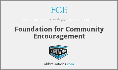FCE - Foundation for Community Encouragement