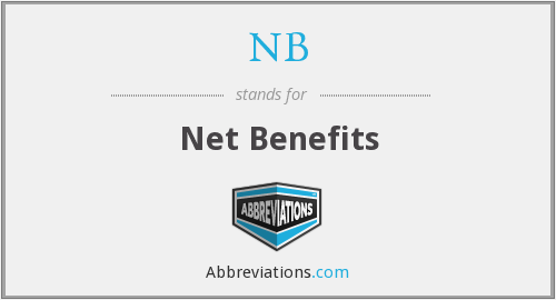 NB - Net Benefits