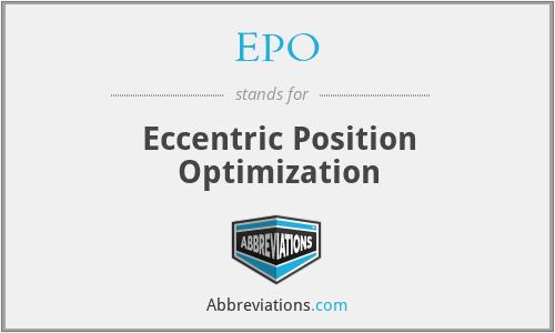 EPO - Eccentric Position Optimization