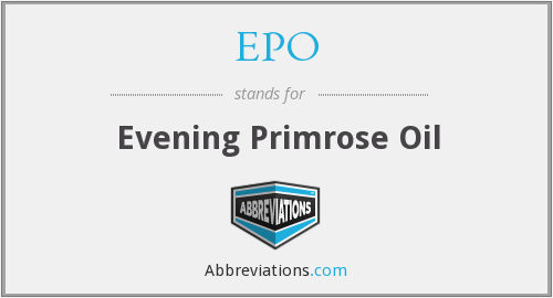 EPO - Evening Primrose Oil