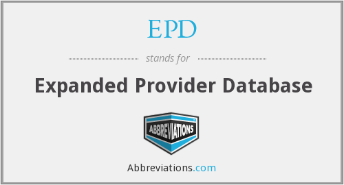 EPD - Expanded Provider Database