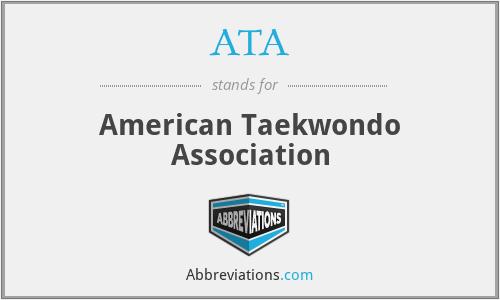 ATA - American Taekwondo Association