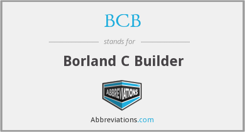 What does BCB stand for?