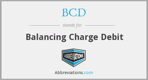 BCD - Balancing Charge Debit