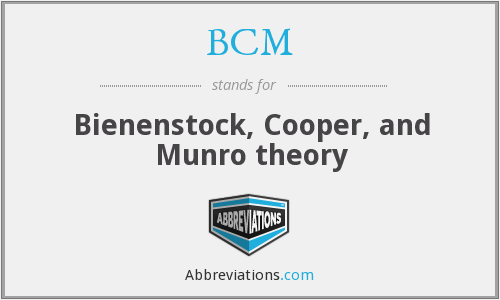 BCM - Bienenstock, Cooper, and Munro theory