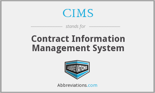 CIMS - Contract Information Management System