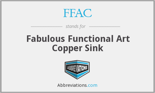 FFAC - Fabulous Functional Art Copper Sink