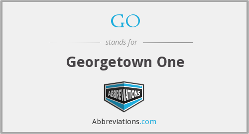 GO - Georgetown One