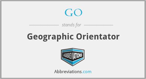 GO - Geographic Orientator