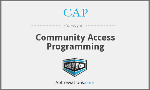 CAP - Community Access Programming
