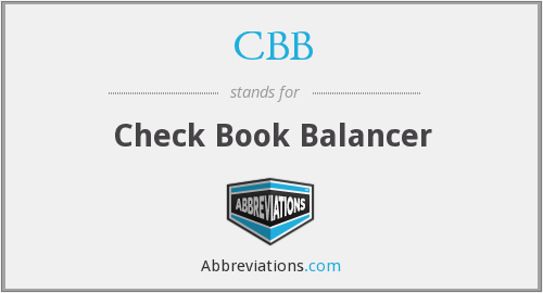 CBB - Check Book Balancer
