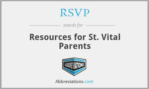 RSVP - Resources for St. Vital Parents