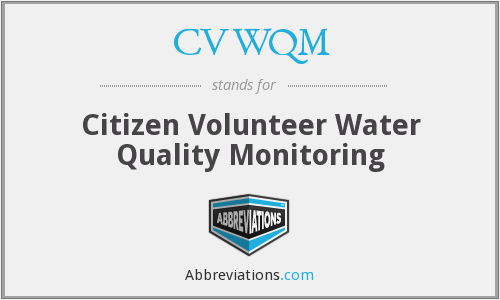 CVWQM - Citizen Volunteer Water Quality Monitoring