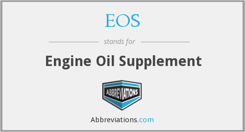 EOS - Engine Oil Supplement