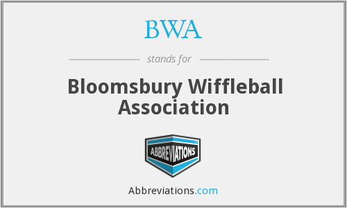BWA - Bloomsbury Wiffleball Association