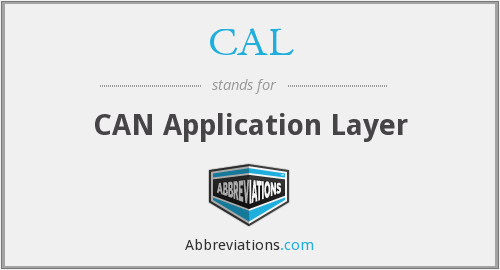 CAL - CAN Application Layer