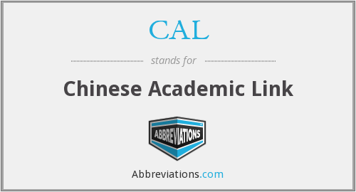 CAL - Chinese Academic Link