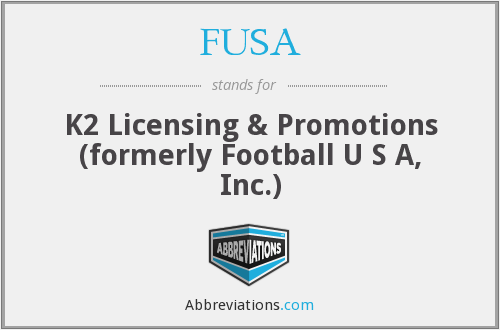 FUSA - K2 Licensing & Promotions (formerly Football U S A, Inc.)