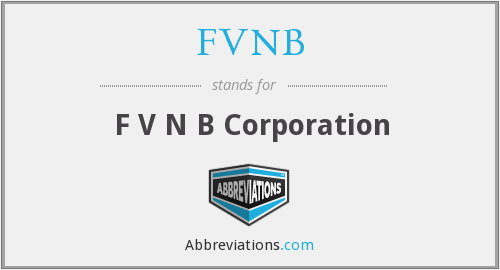 What does FVNB stand for?