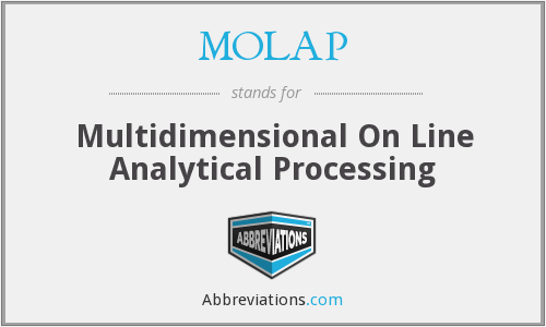 MOLAP - Multidimensional On Line Analytical Processing